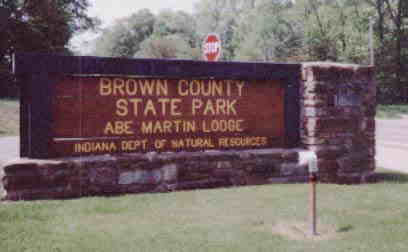 Brown County State Park sign